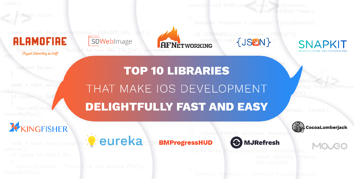 top 10 libraries that make iOS development delightfully fast and easy