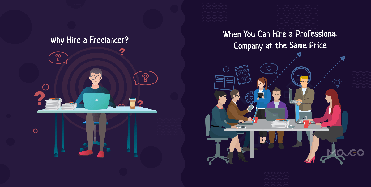 Why Hire a Freelancer When You Can Hire a Professional Company at the Same Price