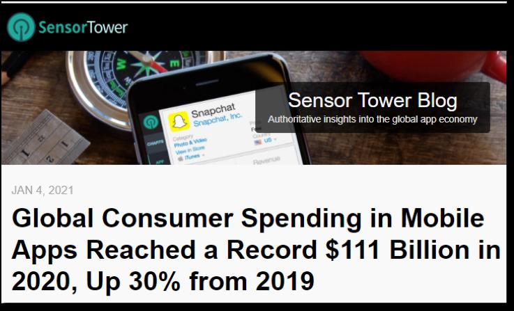 global consumer spending in mobile