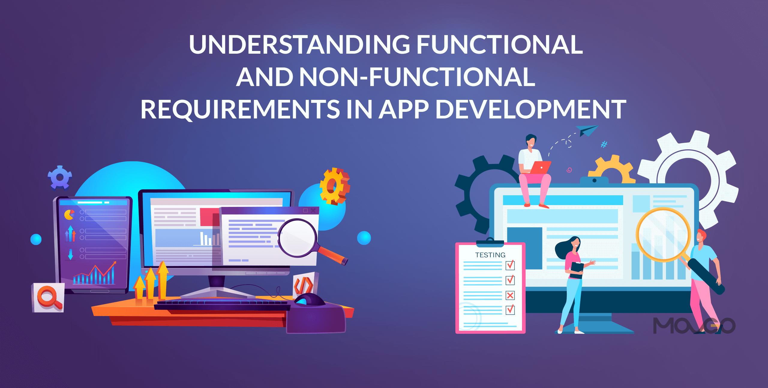 understanding functional and non-functional requirements in app development