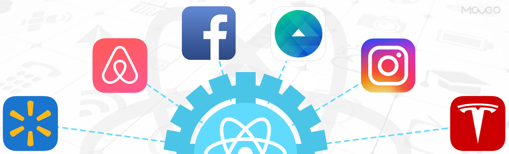 Most popular apps built with react native