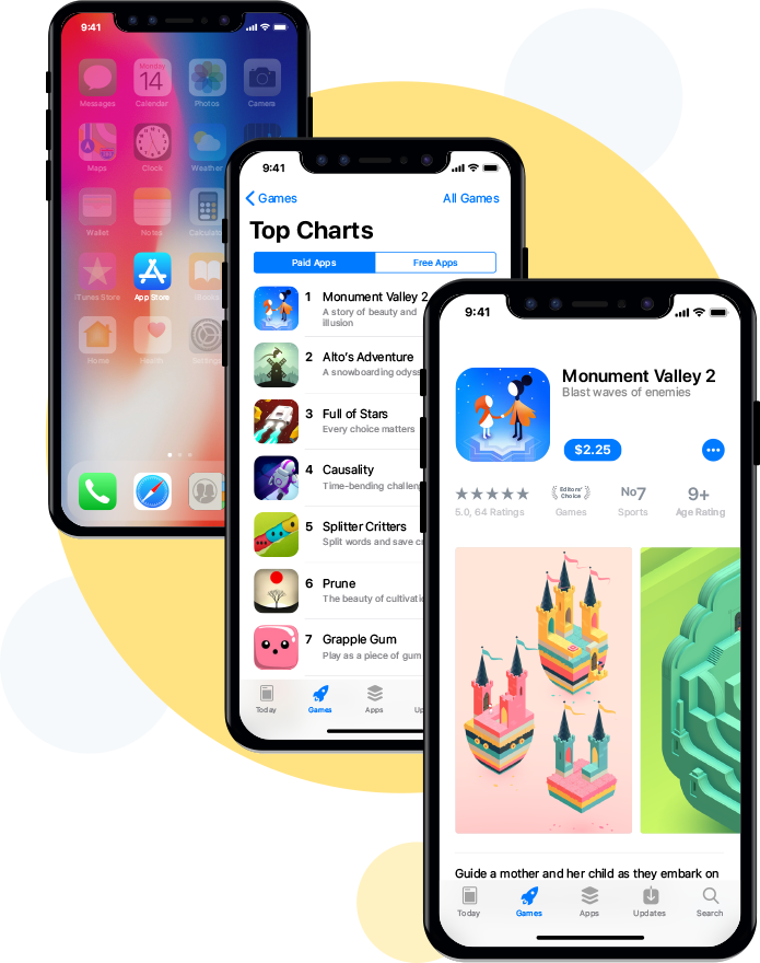 iphone x app design